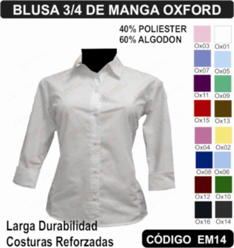 Blusa Oxford Para Uniforme a8b48ed66f1